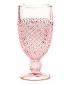 Love this Mosser Glass Rose Addison Goblet by Mosser Glass on #zulily! #zulilyfinds