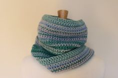 Striped scarf - Long blue scarf - Lightweight scarf - Women's accessories - Crochet scarf tassels - Teal fringe scarf - Fall accessories