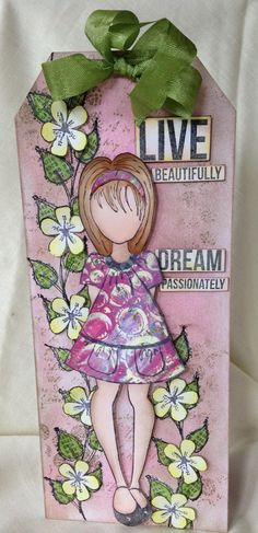You're never too old to play with dolls! Mind you if I'm honest I was one of those little girls who would rather play. Prima Paper Dolls, Prima Doll Stamps, Scrapbook Paper Crafts, Scrapbook Cards, Book Markers, Doll Face, Tag Art, Handmade Flowers, Beautiful Dolls