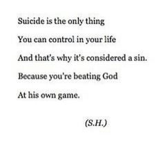 The Bible does NOT say it's a sin to commit suicide....  J/S