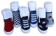 Jax Needs these! Punk Rock Baby Boy Organic Cotton Sneaker Socks Gift Set