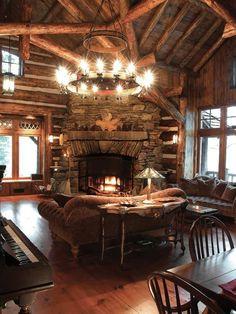 Log cabin winter.