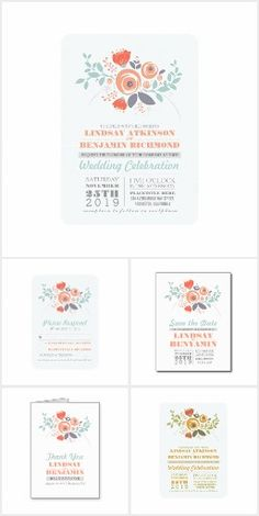 Cute Florals Wedding Collection