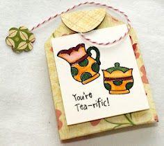 Tea Bag Holder -- TomBow Make & Take at CHA 2012 Summer Show Tombow, Lunch Box, Tea, Summer, How To Make, Summer Time, Bento Box, Teas