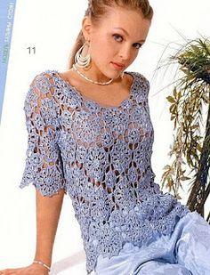 DE MIS MANOS TEJIDOS Y MAS...: Blusas a crochet con pastillas demismanostejidos.blogspot.com.br