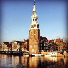 Montelbaanstoren in Amsterdam, Noord-Holland
