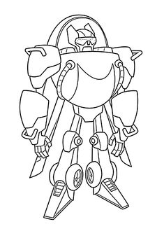 Blades Rescue Bot Coloring Pages For Kids Printable Free