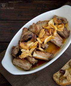 Costillas de cerdo iberico al ajillo. ~ Al Calor del horno