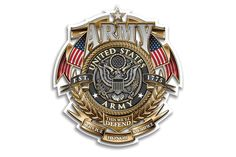 U.S. Army This We'll Defend. Service Honor Sacrifice Badge of Honor Reflective Decal from Mustang Loot