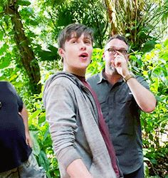 In between takes of Jurassic World