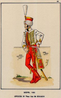 French; 7th Hussars, Officer, Egypt, 1800