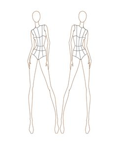128 best croquis images on Pinterest   Fashion drawings  Drawing     Fashion Croquis Templates Female Sketch Coloring Page