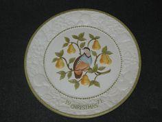 1971 SONGS OF CHRISTMAS PLATE PARTRIDGE PEAR TREE VERNON WARE METLOX #DH22