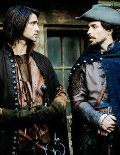 D'Artagnan and Aramis in The Musketeers ^_^ (Luke Pasqualino and Santiago Cabrera)