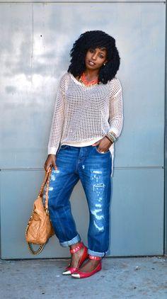 Boyfriend style jeans done right!