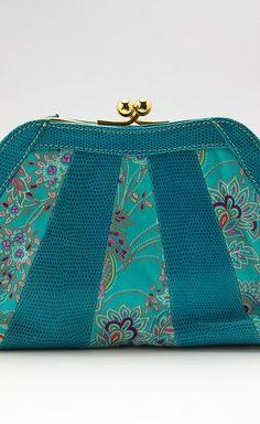 beautiful turquoise handbag