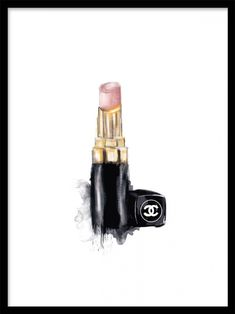 Chanel lipstick make-up poster.Matches perfectly with the poster Nail polish at desenio.se