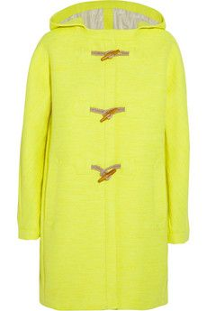 J.Crew Collection neon canvas duffle coat