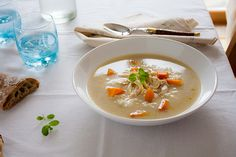 Cauliflower mushroom soup / my dear recipes