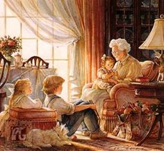 A grandma has ears that truly listen, Arms that always hold, Love that's never ending, And a heart made of gold.