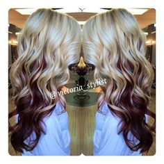The reverse ombre blonde and red