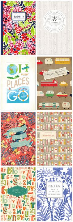 Notebook covers from Minted's Great Ideas Notebook Challenge - displayed on veerle.duoh.com's- blog.