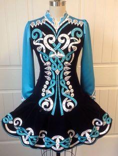 Irish dance dresses 2016 - box pleated skirt, embroidered & beaded