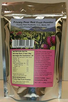 Prickly Pear Red Fruit Powder: 1-Pack (A Nopal Cactus Fruit Dehydrated Powder) 1 Resealable Mylar Bag has a 38 day supply with 2 teaspoons daily dosage. (Net Weight 10.5 ounces.) Review http://10healthyeatingtips.net/prickly-pear-red-fruit-powder-1-pack-a-nopal-cactus-fruit-dehydrated-powder-1-resealable-mylar-bag-has-a-38-day-supply-with-2-teaspoons-daily-dosage-net-weight-10-5-ounces-review/