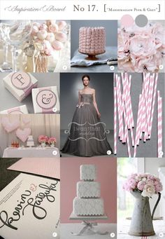 Pink...grey...white !!!! My wedding color palette so in love !!!!! Can it please be march !!!!