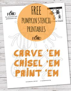 Why pay for a book of pumpkin carving stencils when you can download 36 awesome stencils for FREE? Check out Plaid's blog for countless fun and cute pumpkin carving ideas.  Just print your favorite, and tape to your pumpkin for easy carving!