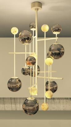 FLUXUS chandelier for SICIS Next Art at Salone del Mobile 2015 - designed by Massimiliano Raggi
