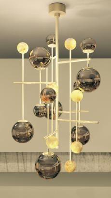FLUXUS chandelier for SICIS Next Art at Salone del Mobile 2015 - designed by Massimiliano Raggi