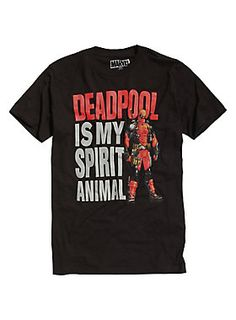 The search for your spirit animal is over // Marvel Deadpool Spirit Animal T-Shirt