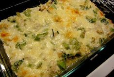 Chicken and Broccoli Cheesy Casserole - Low Carb Recipe 3 cups cubed chicken 16 oz bag of frozen broccoli 1 med onion diced (about 1 cup) 2 cups shredded mozzarella cheese 1 tsp garlic powder cup chicken stock 1 Tbspn olive oil c sour cream 1 cup ricotta Low Carb Recipes, Diet Recipes, Chicken Recipes, Cooking Recipes, Healthy Recipes, Easy Recipes, Simply Recipes, Delicious Recipes, Recipe Chicken