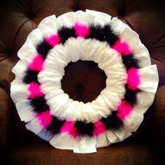 Colorful Diaper Wreath