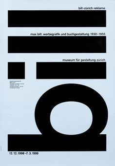 Robert & Durrer poster: Max Bill: Werbegrafik und Buchgestaltung 1930-55