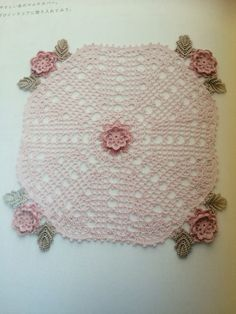 かぎ針編みの薔薇いっぱいこもの #マルチカバー #crochet #芹澤圭子