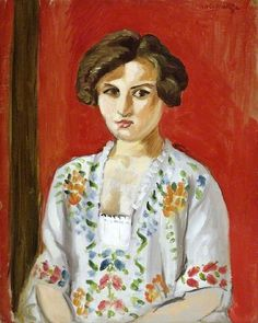The Bulgarian Blouse  by Henri Matisse  The Fitzwilliam Museum        Date painted: 1920      Oil on canvas, 41 x 32.7 cm      Collection: The Fitzwilliam Museum