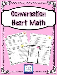 Really Awesome fun! Conversation Heart Math - Need something for math class on Valentine's Day? Conversation Heart Math will provide some fun math activities for those conversation hearts. $