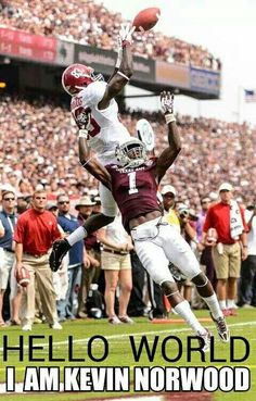 LOVE Kevin Norwood #AlabamaFootball   #NCAA #CollegeFootball  For Great Sports Stories, Funny Audio Podcasts, and Football Rules Tutorial RollTideWarEagle.com