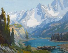 View Long Lake, Sierra Nevada by Marion Kavanaugh Wachtel on artnet. Browse upcoming and past auction lots by Marion Kavanaugh Wachtel. Fantasy Landscape, Landscape Art, Landscape Paintings, Fantasy Art, Sierra Nevada, Lake Art, Impressionist Art, Adventure Time Anime, Watercolor Landscape
