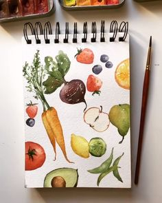 Make a Plant-Inspired Piece? Make a Plant-Inspired Piece? Bärbel Fischbock barbelfischbock Kunst Would you rather eat your veggies or draw them? Make your […] Painting watercolor Watercolor Food, Watercolor Flowers, Watercolor Journal, How To Watercolor, Watercolour Pens, Watercolor Beginner, Step By Step Watercolor, Simple Watercolor, Watercolor Projects
