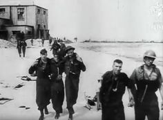 Canadian prisoners at Dieppe. Dieppe Raid, Canadian Soldiers, D Day, Warfare, World War Ii, Ww2, Military, History, Diorama