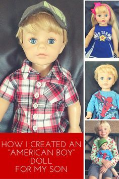 Her son wanted an American Boy Doll, so she made it happen. Check out this simple transformation. Perfect boy birthday or Christmas gift!
