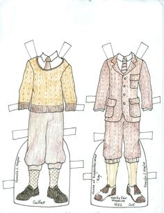 These were published in an OPDAG magazine. If you like paper dolls check out this publication. The magazine is open to submissions.  #OPDAG #paper dolls
