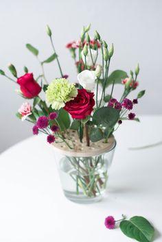 s i n n e n r a u s c h: DIY Blumensieb - Oder wie man Schnittblumen in großen Vasen arrangiert
