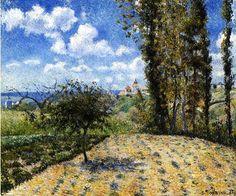 View toward the Pontoise Prison - Camille Pissarro - 1881