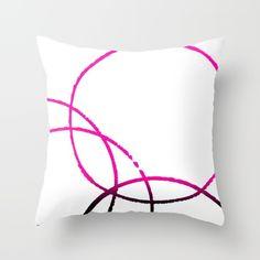Circles Overlap 2 Throw Pillow by Jensen Merrell Designs - $20.00