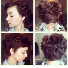 ... Haircuts Ideas, Shorts Hair, Pixie Haircuts For Curly Hair, Hair Cut