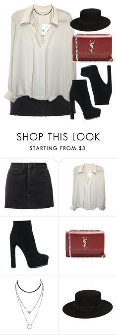 """""""Sin título #12997"""" by vany-alvarado ❤ liked on Polyvore featuring Ksubi, Casadei and Yves Saint Laurent"""